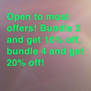 Offers and Discounts!